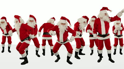stock-footage-bunch-of-santa-claus-dancing-against-white-christmas-holiday-background-alpha-matte